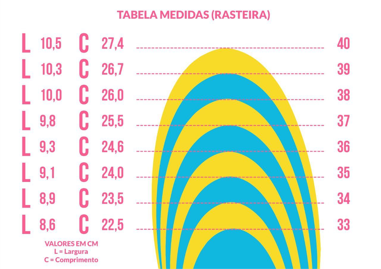 RASTEIRA DUCHI DUPLA RETA CORES CARAMELO E LARANJA