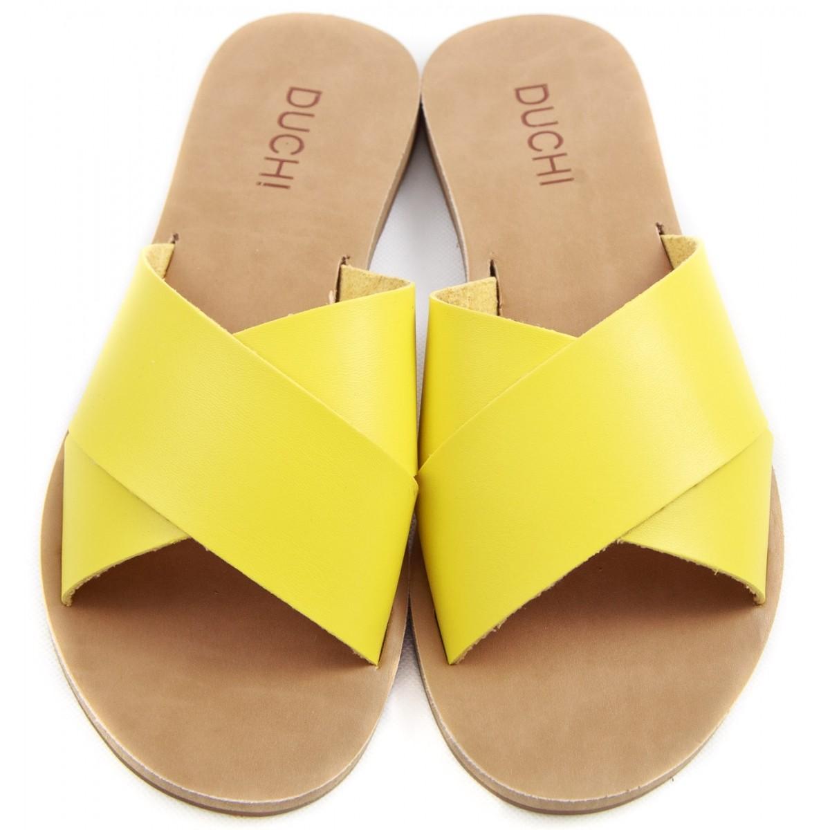 Rasteira X  - Amarelo
