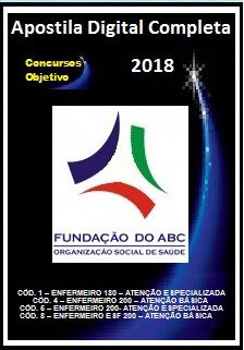 Apostila Fundação do ABC (Santo André) 2018 - CÓD. 1 –  CÓD. 4 –  CÓD. 5 –   CÓD. 8