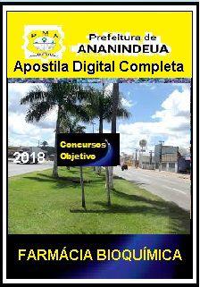 Apostila Prefeitura de Ananindeua 2019 - FARMÁCIA  BIOQUÍMICA