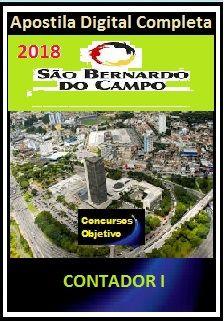 Apostila Prefeitura de S. Bernardo do Campo 2018 - CONTADOR I