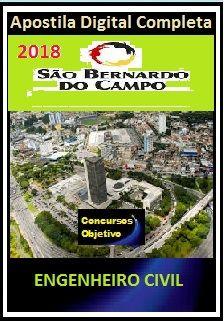 Apostila Prefeitura de S. Bernardo do Campo 2018 - ENGENHEIRO CIVIL