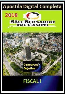 Apostila Prefeitura de S. Bernardo do Campo 2018 - FISCAL I