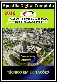 Apostila Prefeitura de S. Bernardo do Campo 2018 - TÉCNICO EM LICITAÇÕES