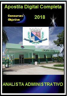 Apostila Prefeitura de Santa Luzia MG 2018 - ANALISTA ADMINISTRATIVO