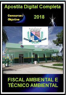 Apostila Prefeitura de Santa Luzia MG 2018 - FISCAL AMBIENTAL E TÉCNICO AMBIENTAL