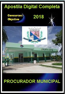 Apostila Prefeitura de Santa Luzia MG 2018 - PROCURADOR MUNICIPAL