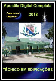 Apostila Prefeitura de Santa Luzia MG 2018 - TÉCNICO EM EDIFICAÇÕES