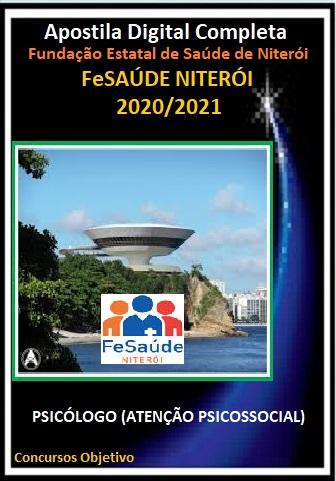 PSICÓLOGO (ATENÇÃO PSICOSSOCIAL) Fundação Estatal de Saúde de Niterói - 2020