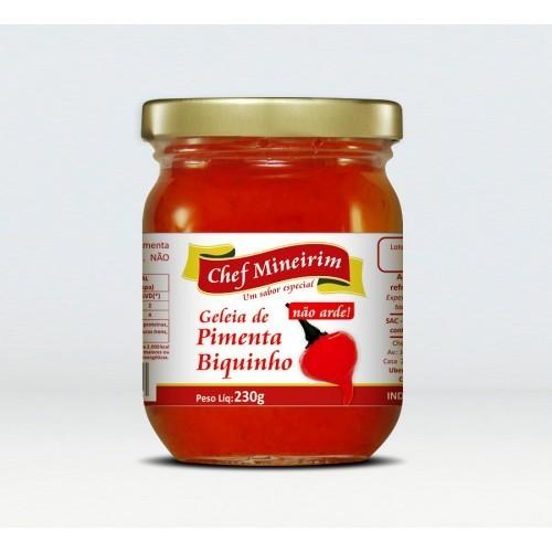 Geleia de Pimenta Biquinho (N�o Arde) 230g - Chef Mineirim