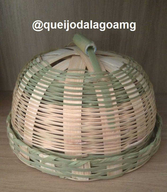 Queijeira Artesanal de Bambu para Queijos de até 1kg