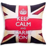 ALMOFADA 40 X 40 KEEP CALM AND CARRY ON