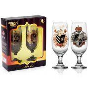 Conjunto 2 Taças Floripa Rótulos Cerveja Medieval + Caixa Presente