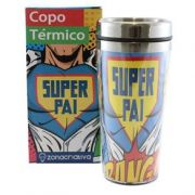 COPO TERMICO COM TAMPA -  SUPER PAI