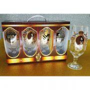 Maleta 4 Taças Floripa Rótulos Cerveja Medieval + Caixa Presente