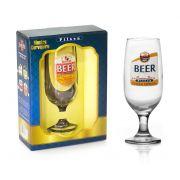 Taça Floripa Rótulos Cerveja Pilsen + Caixa Presente