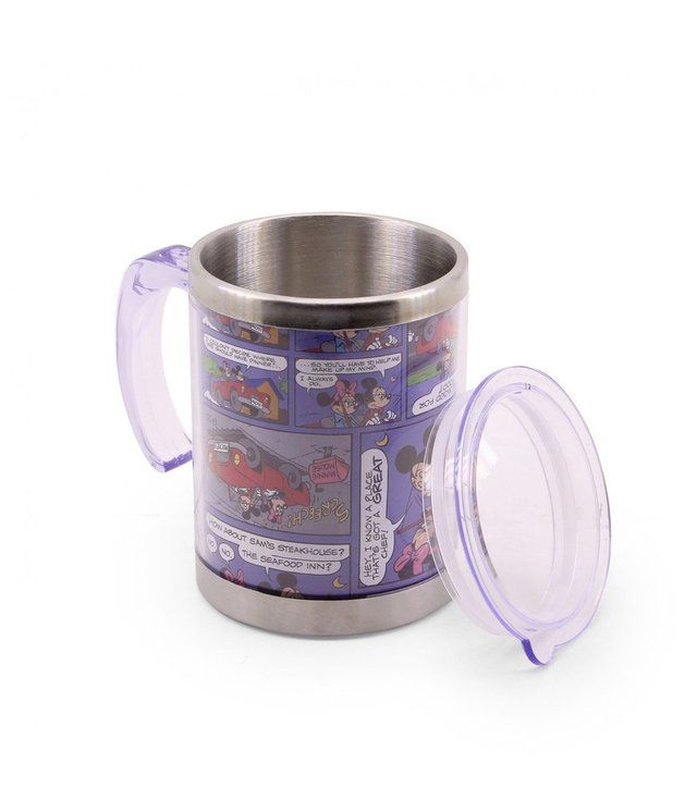 Caneca Térmica Gibi Mickey & Minnie 450ml - Disney