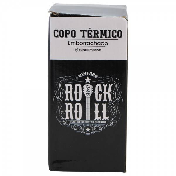 COPO TÉRMICO EMBORRACHADO - ROCK AND ROLL
