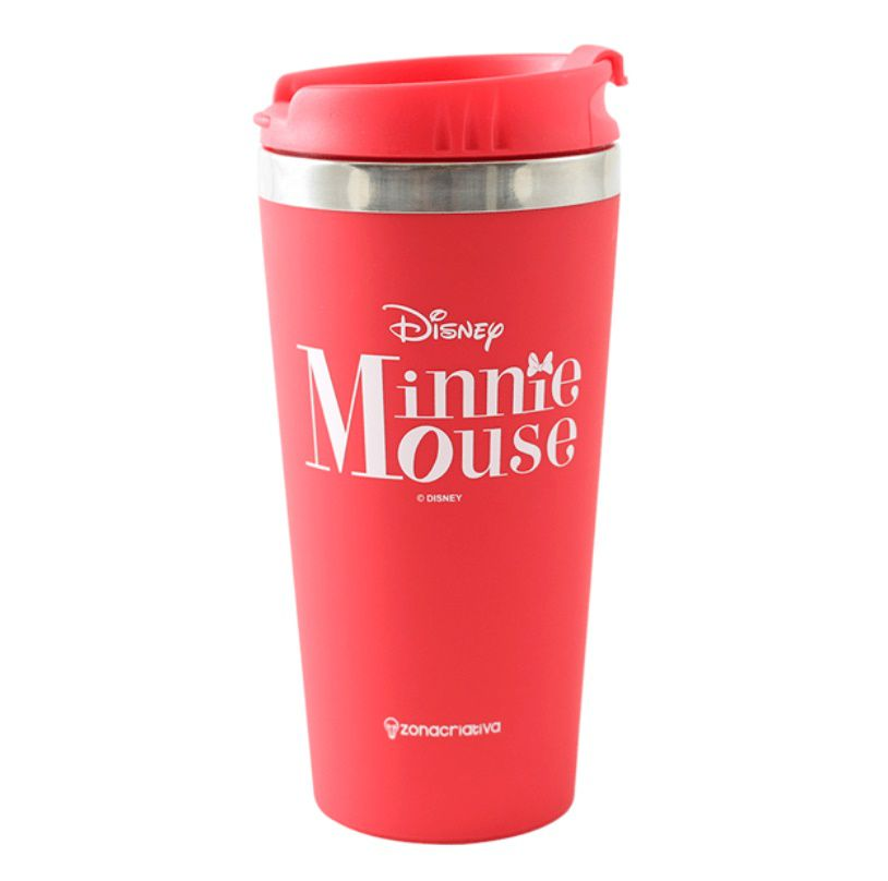 Copo Termico Viagem Emborrachado 450ml Minnie Mouse