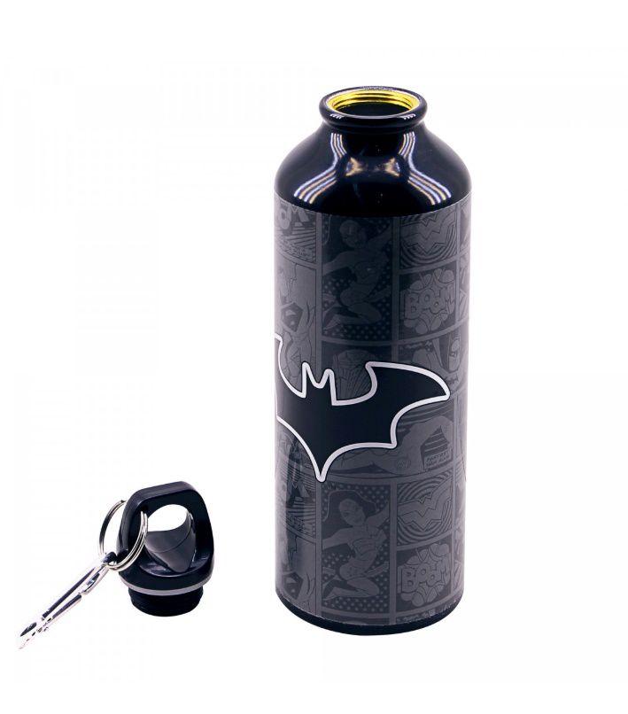 Garrafa De Alumínio Com Prendedor Batman 500ml - Liga da Justiça