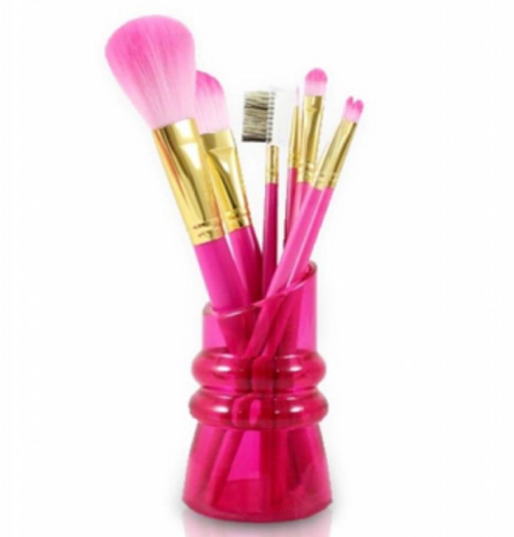 Kit de Pincéis com Suporte Candy Kiss - PINK