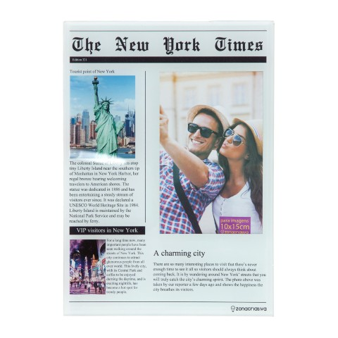 PORTA RETRATO JORNAL THE NEW YORK TIMES