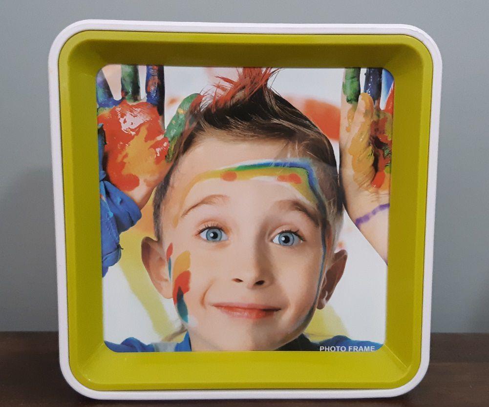 Porta Retrato Quadrado Dupla Face 17,8 X 3,6 X 17,8 Cm