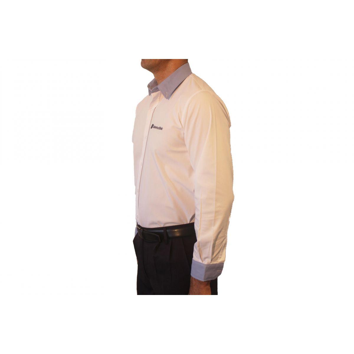 Camisa Social Masculina Manga Longa  - Uniformes Odontoclinic