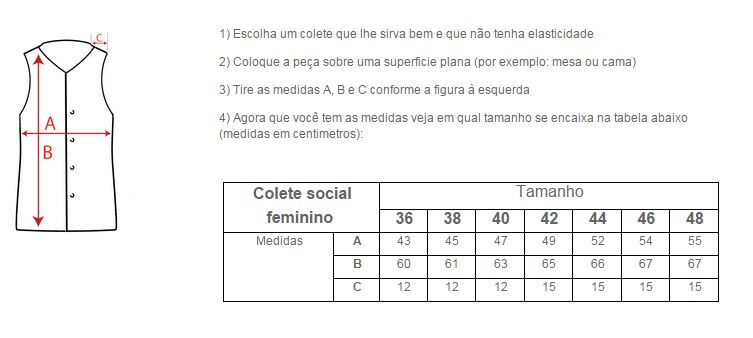 Colete Feminino em Microfibra  - Uniformes Odontoclinic