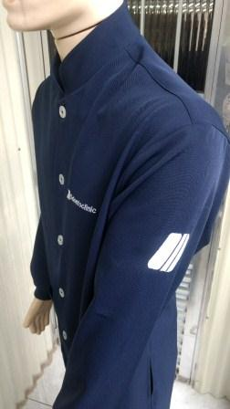Jaleco 7/8 manga longa com punho  cor azul marinho  - Uniformes Odontoclinic
