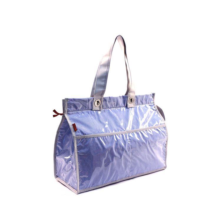 Bolsa Térmica Lavanda   xadrez azul