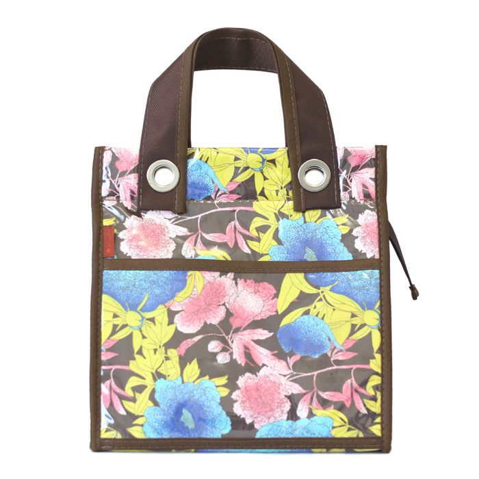 lancheira LILLY | floral fundo marrom