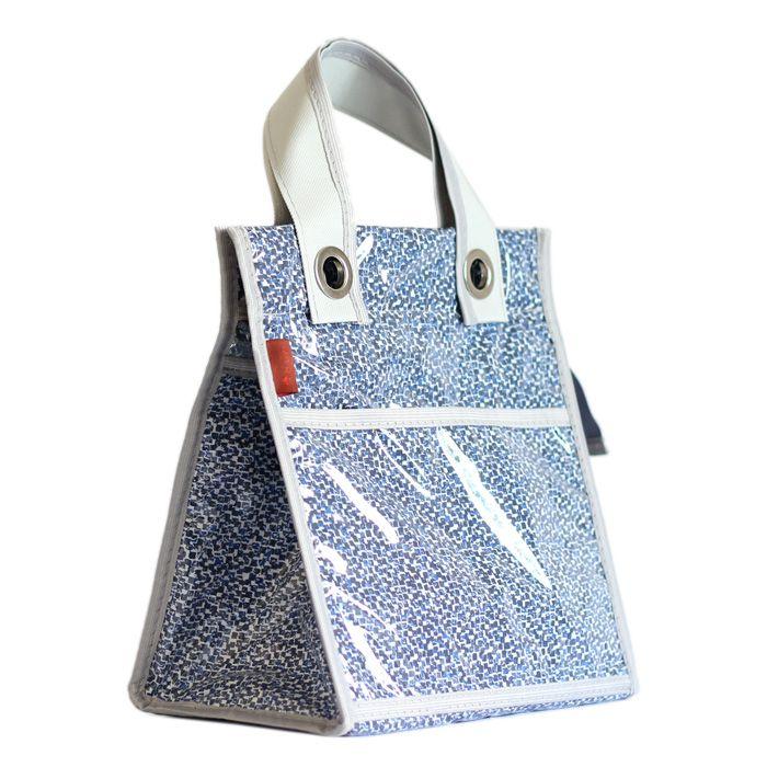 lancheira LILLY | quadrados azuis