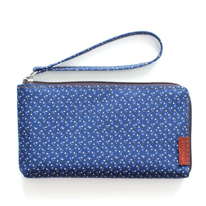 porta-celular MOBS | floral azul-branco