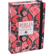 Bíblia Sagrada com caderno para anotações