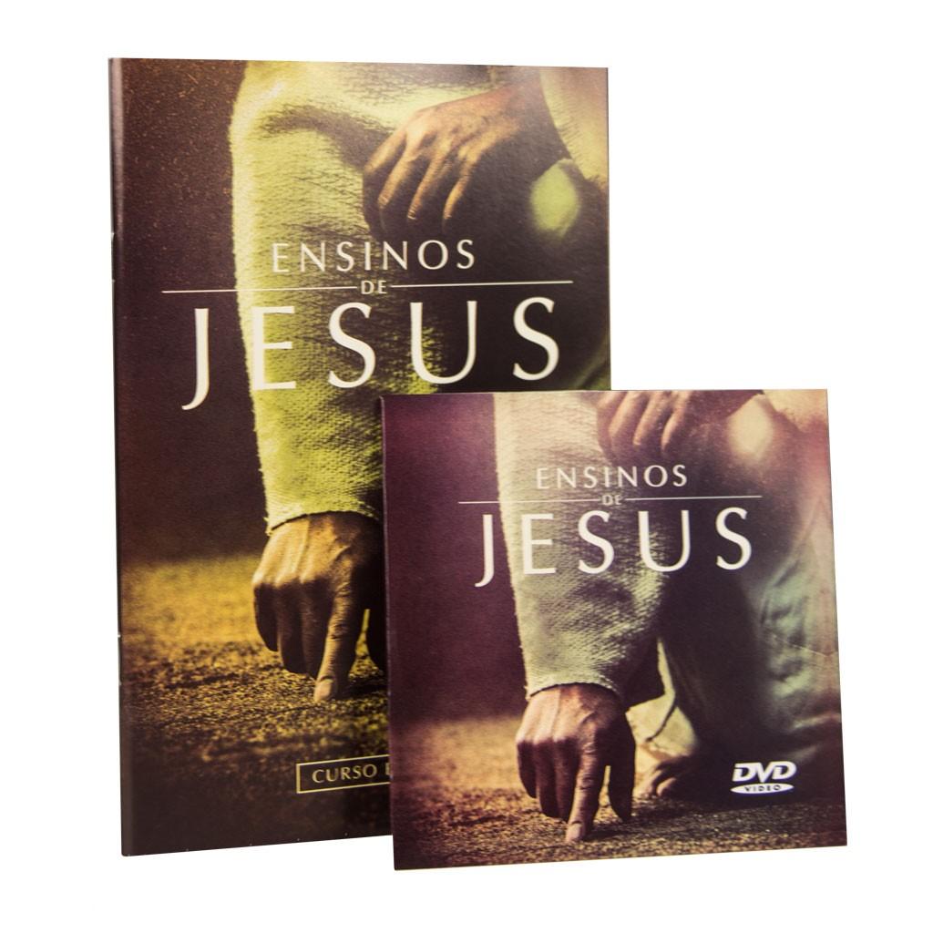 Kit  com 10 Cursos Bíblicos Ensinos de Jesus + 10 DVDs Ensinos de Jesus