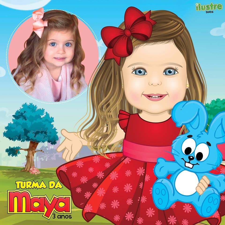 Ilustre de criança com tema