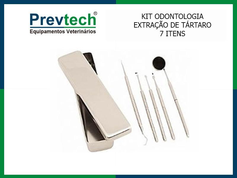 KIT 7 ITENS PARA ODONTOLOGIA (KIT EXTRAÇÃO DE TÁRTARO)