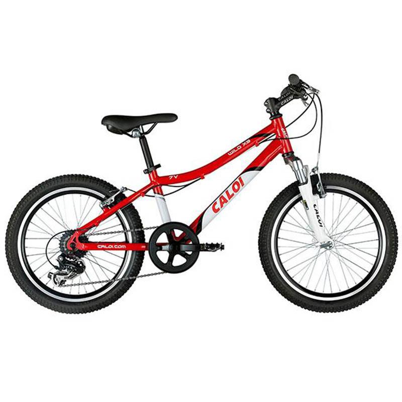 Bicicleta Caloi Wild XS 7V Aro 20 Vermelho