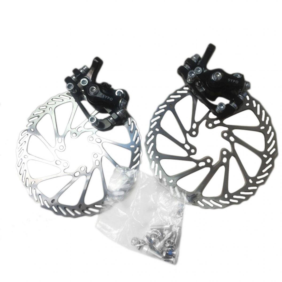 Kit de Freio à Disco Dianteiro/Traseiro com rotor e pinças