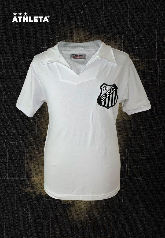 Camisa Athleta Santos Manga Curta 1962-1963