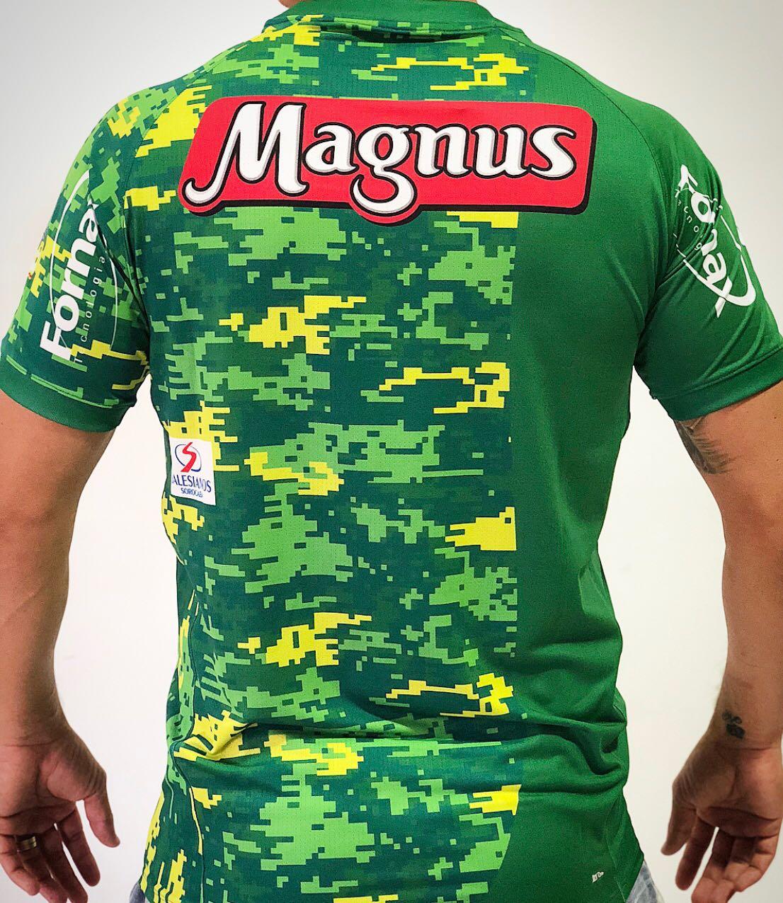 Camisa Oficial Magnus Goleiro Verde 2018