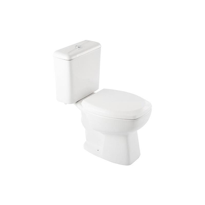 Bacia com Caixa Acoplada Ecoflush Thema Plus Branco Incepa