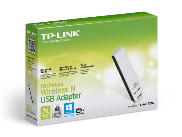 Adaptador Wireless Usb Tp-Link Tl-Wn721N 150 Mbps