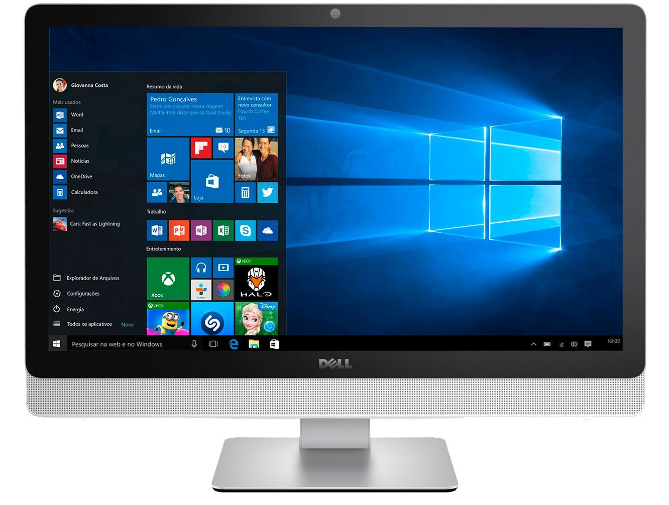 All In One Dell 3464 I7-7500U/8Gb| 1Tb| Dvd|Gf920Mx(2Gb)| Wifi|Tela 24 Touch| Win 10 Pro