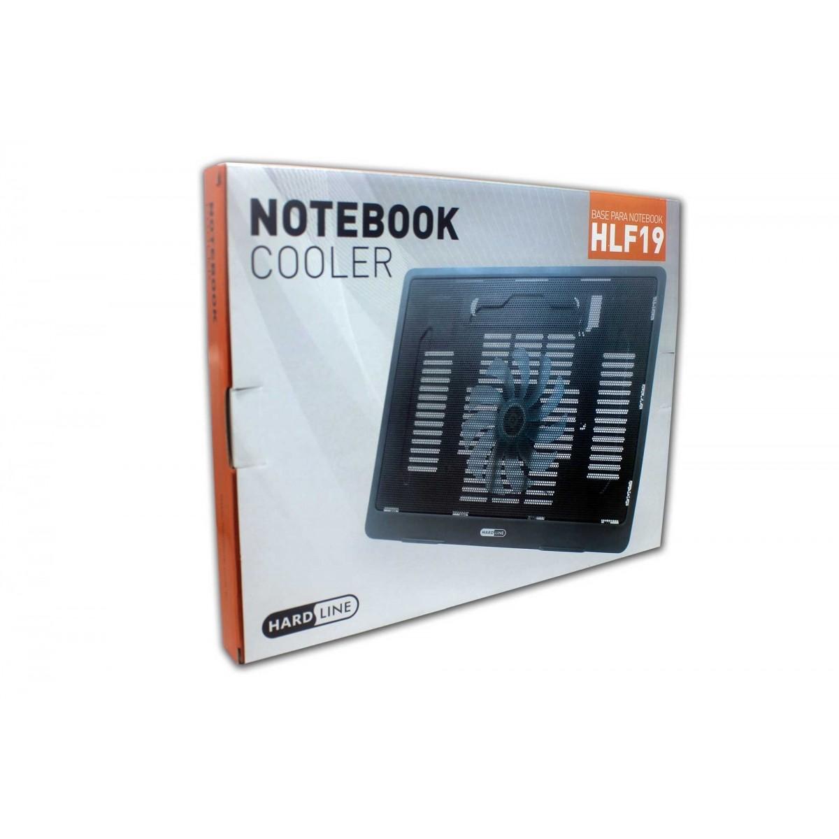 Base Para Notebook Com Ventilador Hlf19 Preto Hardline