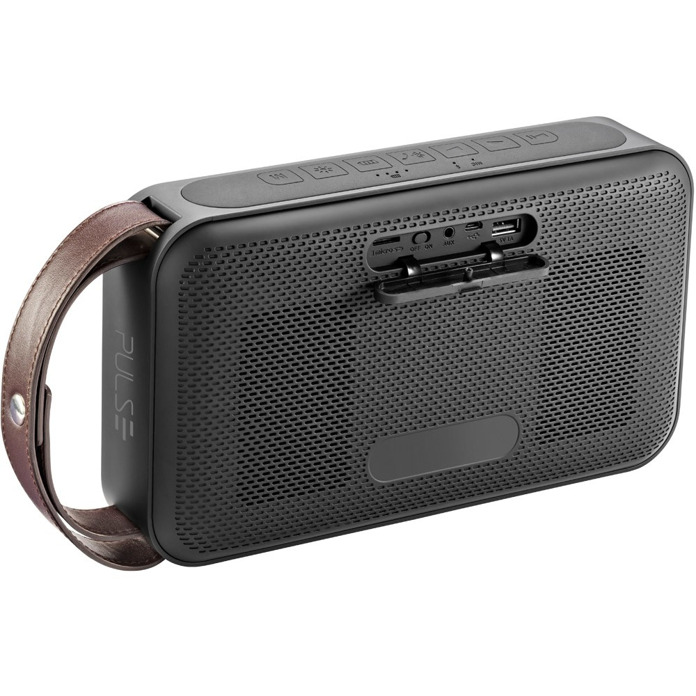 Caixa De Som Pulse Bluetooth C/ Alca Portatil Preta 50W Rms Sp235
