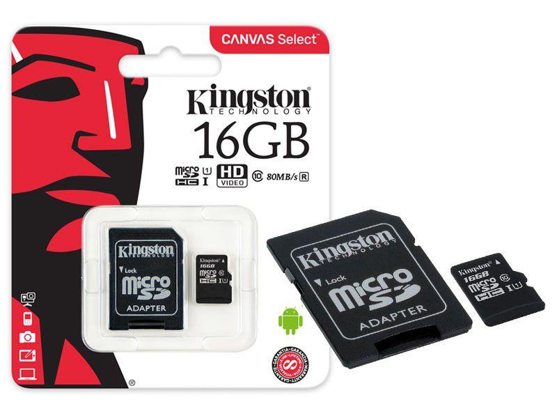 Cartao De Memoria Micro Sdhc 16Gb Classe 10 Sdcs| 16Gb Kingston