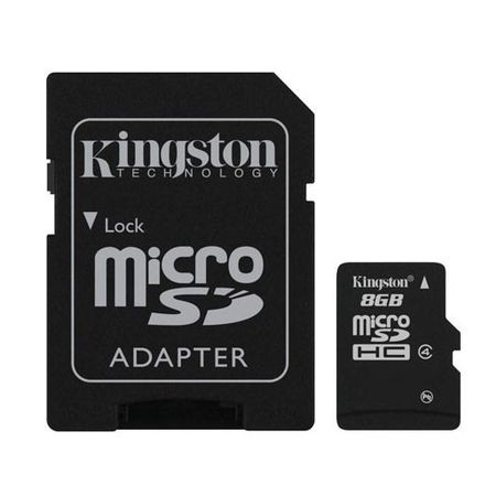 Cartao Memoria 8Gb Kingston Microsd Adapt Cl4 Sdc4/8Gb