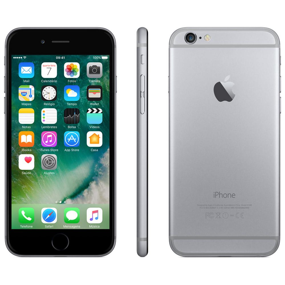 Celular Iphone 6 16Gb Space Gray Mg3A2Br/A